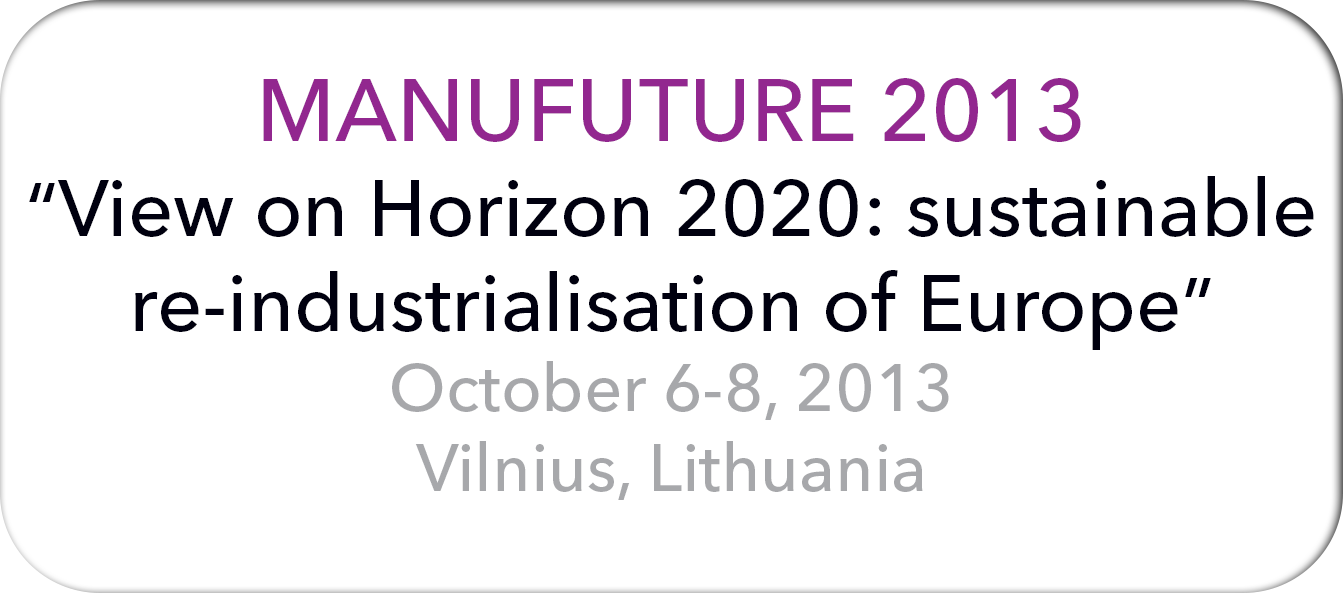 Manufuture 2013