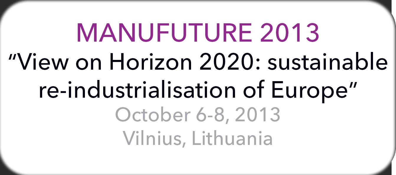 Manufuture 2013